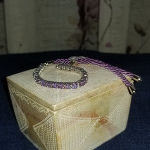 Regal Jewelry Purple Silk Bracelet With Swarovski®
